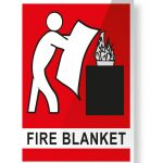 fire blanket location signage